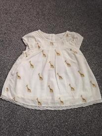M and S cream baby shirt, age 0-3months