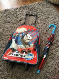 Thomas the tank suitcase wallet and umbrella