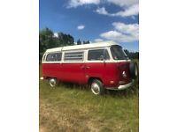 1970 vw t2 baywindow campervan westfalia