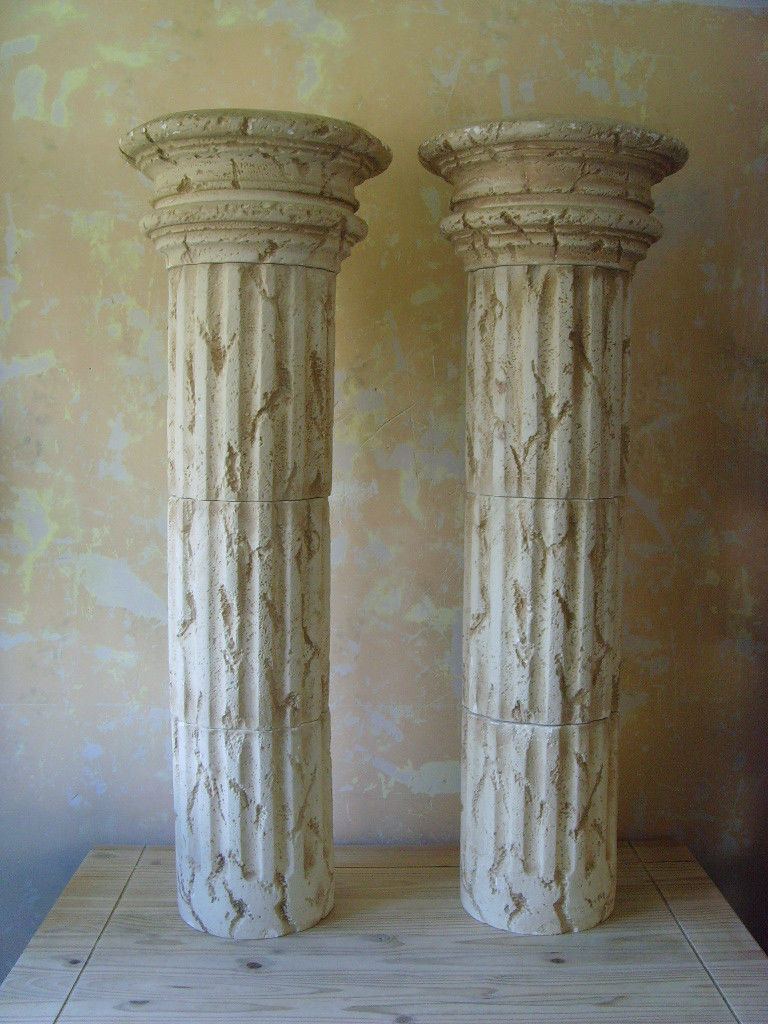 Roman Style Column Pedestal Sculpture Stand Plant Holder