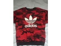Adidas red camo limited edition jumper