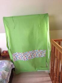Canvas wardrobe / covered rail