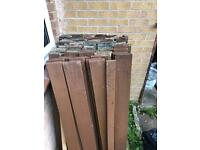Garden wood fence