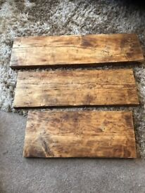 Shelves - reclaimed solid wood