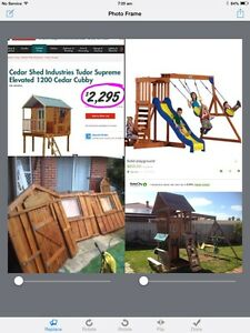 "CAN DELIVER! House Cubby &""FREE Cedar Swing Set & Slide Beechboro Swan Area Preview"