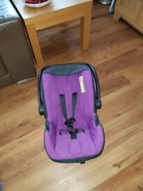 Car seat for new born hardly used as new condition