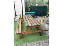 Heavy duty picnic table picnic bench