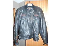 Sportex leather motorcycle jacket