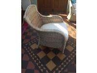 Solid wicker 3 seater sofa, chairs & table