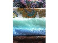 Bundle of vintage dressmaking/craft fabrics sewing
