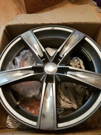 """RS Inox Carbon Grey / Polished Face 1x 18"""" Alloy Wheel"""