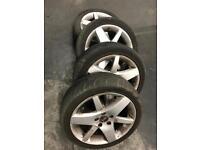 Genuine Saab alloys and tyres