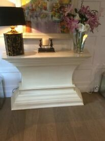 Cream wooden solid Sideboard