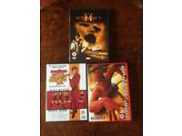 3 DVD's - Austin Powers, Spider-Man, The Mummy