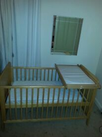 Baby Cot/Bed and Accessories for sale
