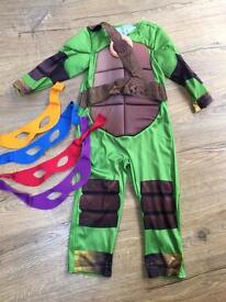 Ninja turtles costume age 3-4
