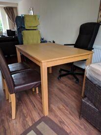 Oak Effect Dining Table