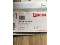 Matilda The Musical Tickets £25 each (2 tickets)