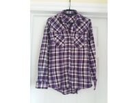 2 x ladies checked shirts size 8