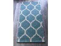 Artisan blue gray rug geometric shape medium