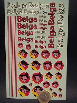 "DECALS 1/43 - 1/32 - 1/24 - 1/18 TABAC NOUVEAU LOGO "" BELGA "" - T305"