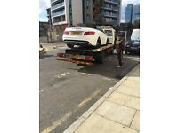 Recovery vehicle and trailer transportation motorcycle, breakdown towing