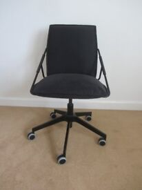Office chair - Ikea Villstad swivel, charcoal grey - excellent condition