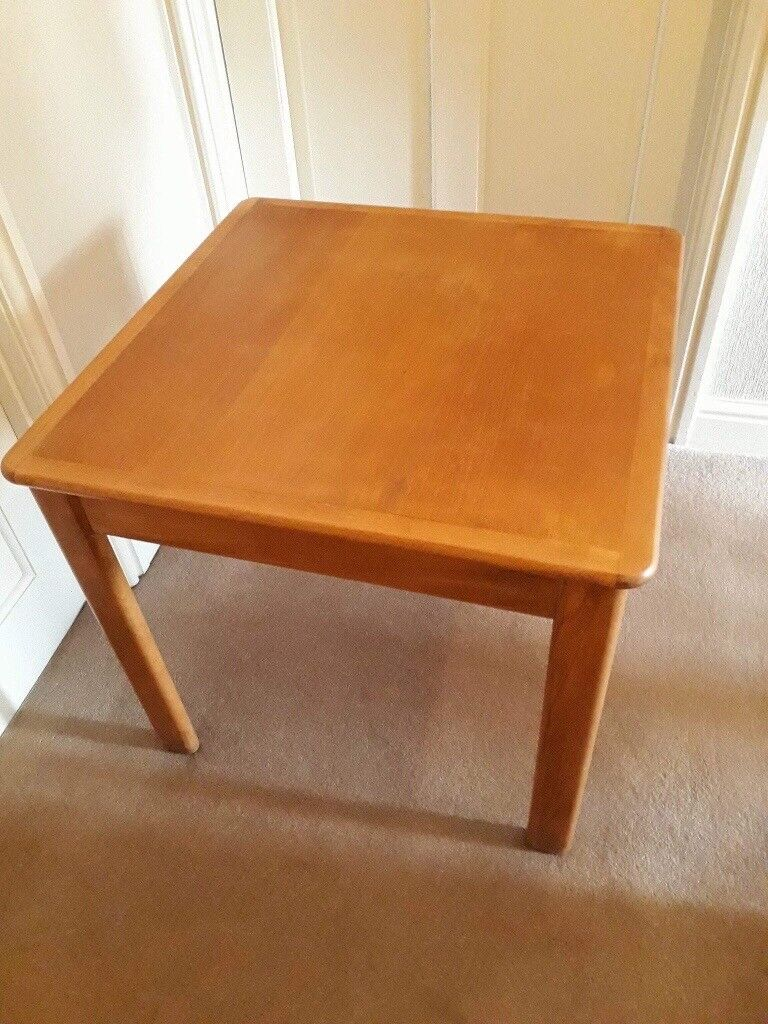 Square Parker Knoll Side Table In Barry Vale Of