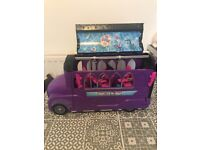Monster High school bus and Spa.