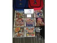 Nintendo Ds lite Super Mario bags and lots of games bundles
