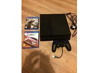 PlayStation 4 1TB edition excellent condition only used a few times come with 2 games