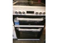 Beko double oven and grill with ceramic hob