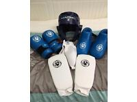 Child's martial arts sparring gear