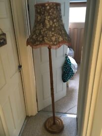 Original vintage 1950's standing lamp with original shade