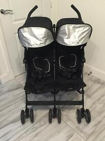 Maclaren twin techno double buggy - excellent condition (hardly used)