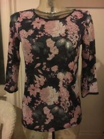 Ladies flower Top Size 10
