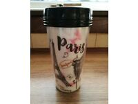 Tea / coffee travel mug Paris design