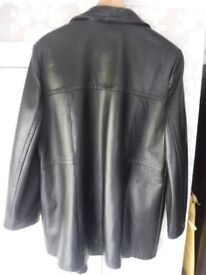 Genuine ladies' black leather jacket size L/XL in VGC - offers welcome