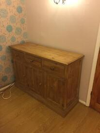 Solid wood Cupboard 1.35m x 0.9 x 0.45m
