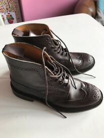 Women's Trickers boots in Chocolate. Size 7.5