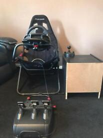 Logitec g920 steering wheel,pedals,shifted,seat