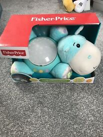 Fisher Price Hippo cuddle projection soother