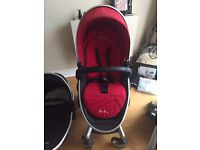 Silver Cross Surf Pram Set, Car Seat And Accessories