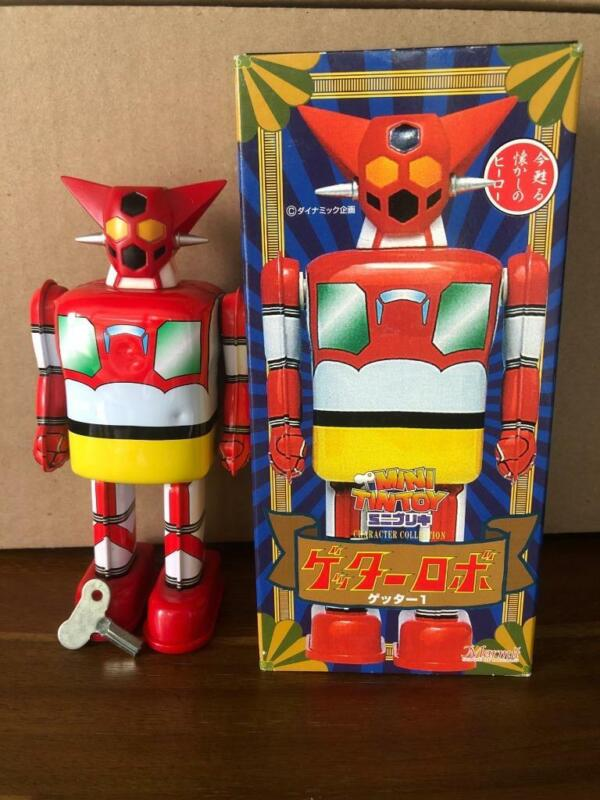 Marmit Character Collection Robo Getter Mini Windup Tin Toy In Box Japan