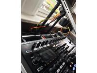 Native instruments s8 with flight case, krk vxt 4 studio monitors, Crane Pro dj stand