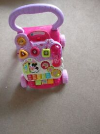 VTech Baby First Steps Walker pink good condition