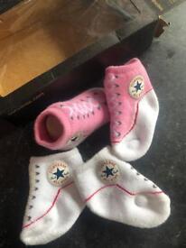 Converse baby socks