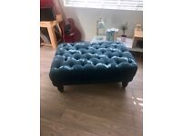 Designer futon footstool for sale. Upcycle or shabby chic project
