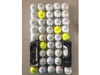 Golf balls - mixture of 45, all well known brands, great condition