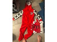 Paw patrol pjs and pillow pet Marshall 4-5 years